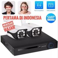 KERUI Paket CCTV POE NVR 8 Channel 2 kamera Mendeteksi Wajah