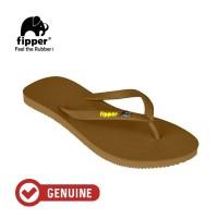 Fipper Glitter / Sandal Jepit Wanita / Brown Dark