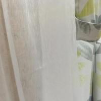Vitrase Serat Lembut Halus ada warna putih & Kream L100cm X P270cm