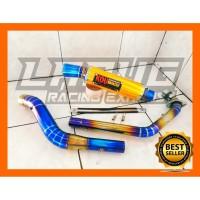 Knalpot Racing Kau mahachai full bluegold all motor 150 cc