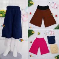 Kulot Polos Uk. 8-10 Tahun / Celana 3per4 Anak Perempuan Murah Celana