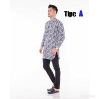Gamis Kurta Kekinian Motif Batik Modern Limited Edition