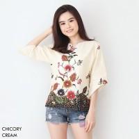 CHICORY -Atasan Batik/Blouse Batik Modern Wanita Cheongsam Premium HQ