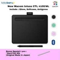 Wacom intuos wireless CTL4100WL Black free software Garansi Resmi