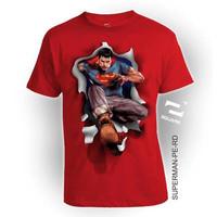 KAOS 3D ANAK GAMBAR SUPERHERO SUPERMAN-PE / T-SHIRT KIDS 2 - 12 THN