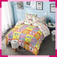 Bed Cover Rumbai Deluxe Kintakun Spongebob Ukuran 160x200 & 180x200