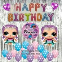 BALON LOL Paket Dekorasi Balon Ulang Tahun / Happy Birthday Tema LOL