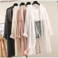 Delaya outer baju atasan wanita fashion remaja kekinian blouse