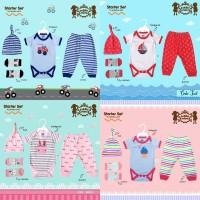 Petite Mimi Starter Set Bodysuit Pants Socks Hat 4in1 Baju Bayi