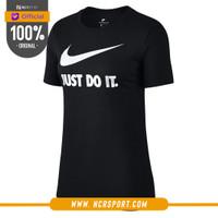 Pakaian Sneakers Nike Wmns JDI Swoosh Tee Black Original AT2786-010