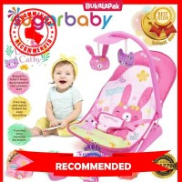 BABY BOUNCER SUGAR BABY INFANT SEAT WITH TOY BAR 3 MOTIF BOUNCER BA