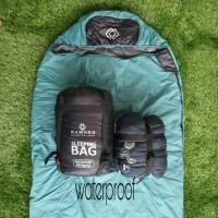 Sleeping bag kamoro mummy double polar dacron silicone 4 oz waterproof