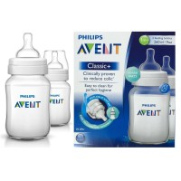 PHILIPS AVENT BABY CLASSIC BOTTLE 260ML TWIN PACK BOTOL SUSU DOT BA