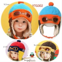pilot hat - topi pilot anak bayi