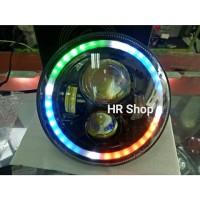 NEW LAMPU DAYMAKER 7 INCH DRL SENJA RGB 644 INc