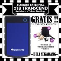 Transcend Harddisk Eksternal Antishock StoreJet 25H3B - 2TB - GRATI