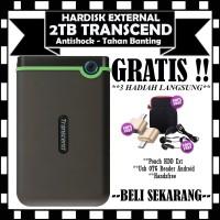 Transcend Harddisk Eksternal Antishock StoreJet 25M3 - 2TB - GRATIS
