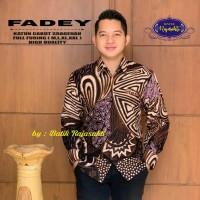 Baju Batik Pria Lengan Panjang Modern Fadey Solo