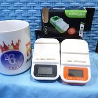 Dekstop Tembak isi Batre Baterai Battery Charger Carger Kodok LCD