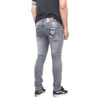 celana panjang jeans skinny slim-fit pria ORMAVEL - Abu-abu, 28