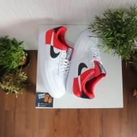 Sepatu Nike Air Force 1 07 LV8 NBA White Red - Premium High Quality