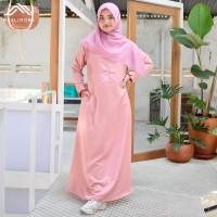 Muslimore - Baju Muslim Wanita Gamis Salem Pastel Polos Baloteli XNB08