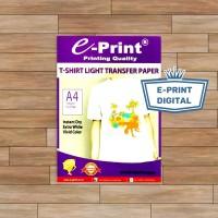 Kertas Buat Sablon Kaos Terang Transfer Paper Light T-Shirt E-print A4