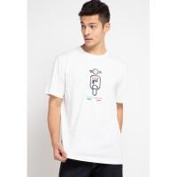 FILA X VESPA Kaos T-Shirt Pria Ritter Putih