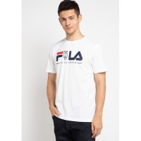 FILA X VESPA Kaos T-shirt Pria Scott Putih