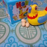 Mainan Ayam Bertelur Light And Sound Free baterai