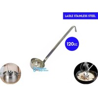 Ladle Stainless 120cc with Hooked/Soup Ladle/ Centong Kuah/Sendok Kuah