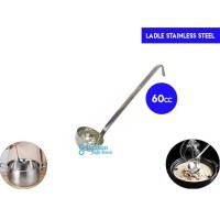 Ladle Stainless 60cc with Hooked/ Soup Ladle/ Centong Kuah/Sendok Kuah