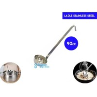 Ladle Stainless 90cc with Hooked/ Soup Ladle/ Centong Kuah/Sendok Kuah