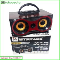 Speaker Portabel Bluetooth Mitsuyama MS-4020 / Radio / USB Super Bass