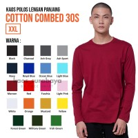 Kaos Polos Cotton Combed 30s Lengan Panjang Yarn Spindle Eco Soft XXL