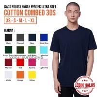 Kaos Polos Cotton Combed 30s Lengan Pendek Yarn Spindle Ultra Soft