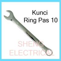 Kunci Ring Pas 10 mm Combination Spanner Wrench Kombinasi 10mm HDT