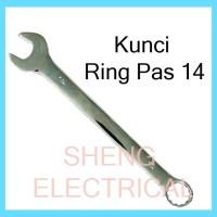Kunci Ring Pas 14 mm Combination Spanner Wrench Kombinasi 14mm HDT