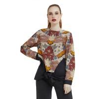 Agrapana Baju Atasan Blouse Batik Wanita Couple Modern Bhamana