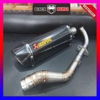 Knalpot Racing Akrapovic Layang Carbon Fullsystem Nmax Aerox Vario 150