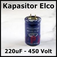 Kapasitor Elco 220uf 450v Capacitor Elko 220 uf 250 Volt