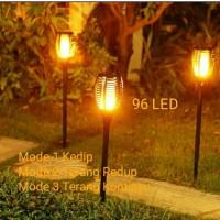 Solar Flame Light / Lampu Taman Tenaga Surya / Lampu Api Obor LED