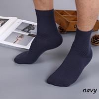 kaus kaki bambu bisnis mens berkualitas tinggi bamboo socks w03 - Navy