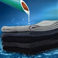 kaus kaki bambu bisnis mens berkualitas tinggi bamboo socks w03 - Hitam