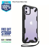 Rearth Ringke iPhone 11 Fusion X Matte Anti Crack Original - Black