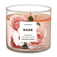 Bath and Body Works BBW ROSE 3 - Wick Scented Candle 411 gr ORIGINAL