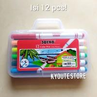 Joyko Color Pen 12 Warna (Per Set) Alat Mewarnai Menggambar Menulis