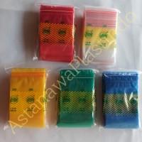Plastik klip 7x10 cm / 7 x 10 cm SMPI / ziplock / zipper warna polos - Bening