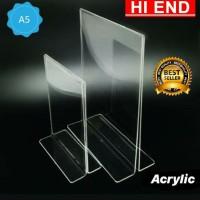 acrylic tent holder / akrilik tent card A5 tempat brosur Meja