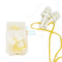 Earplug corded + casing / Penyumbat telinga / Anti Bising